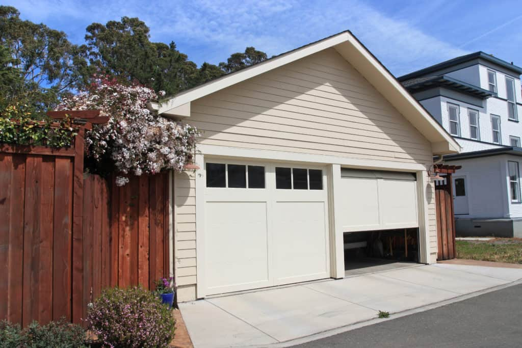 Attached Garage Suburban house
